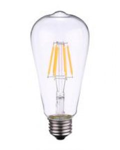 PrimalHacker  Tomshine 6W ST64 LED Filament Bulb Light AC110-120V E26 Base 2700K Edison Style Antique Vintage Retro Holiday Festival Decorations Warm White